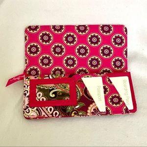Vera Bradley Travel Wallet - Berry Paisley